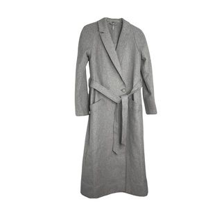Free People Gray Coat Double Breasted Wool XS